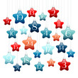 Advent Calendar Blue/Red Stars