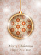 Merry Christmas Flower Balls with Retro Background