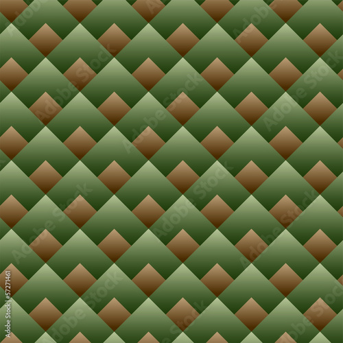 Vector - Seamless Square Pattern Green Set