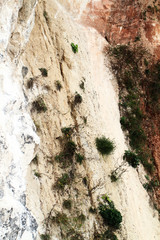 Limestone rock face