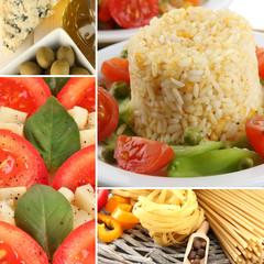 Tasty food collage