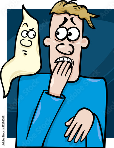 man and ghost cartoon illustration