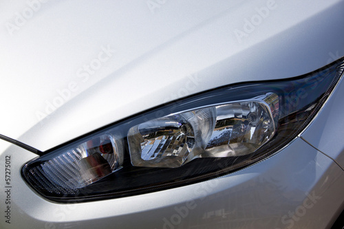Closeup of Vehicle Left Front Head Lamp