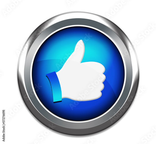 Hand Shaped button thumbs up