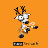 Happy Birthday smile funny deer