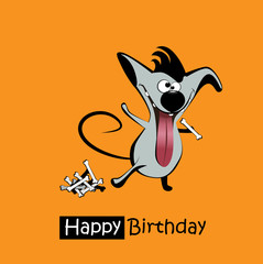 Happy Birthday smile dogs card