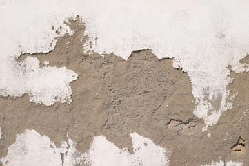Peeling Aged White Wall
