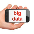 Data concept: Big Data on smartphone