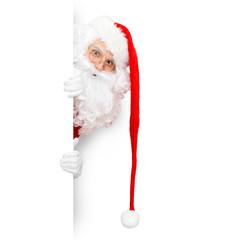 Santa Claus auf weissem Hintergrund