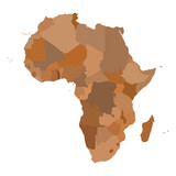 AFRICA Map. Cartography collection. Vector illustration. poster