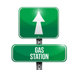 gas station road sign illustrations design
