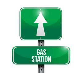 gas station road sign illustrations design