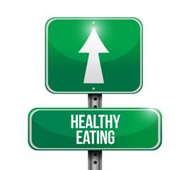 healthy eating road sign illustrations design