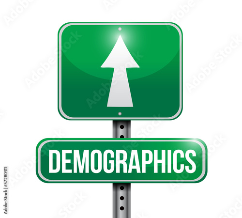 demographics road sign illustrations design