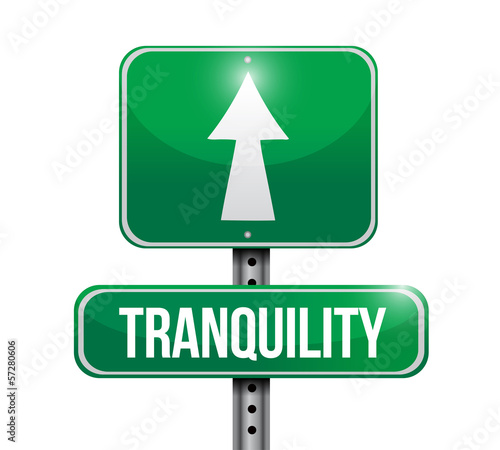 tranquility road sign illustrations design