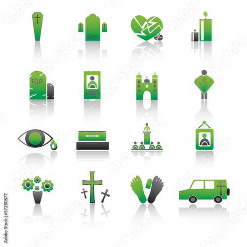 RIP Icons collection, Vector Illustration.