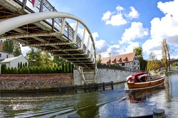 Bridge over the Brda River in Bydgoszcz - Poland