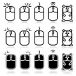 Computer mouse icon set