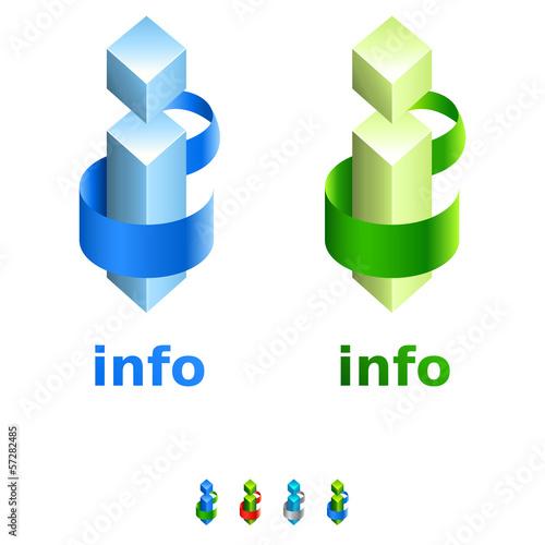 Info-Zeichen - 3D icon