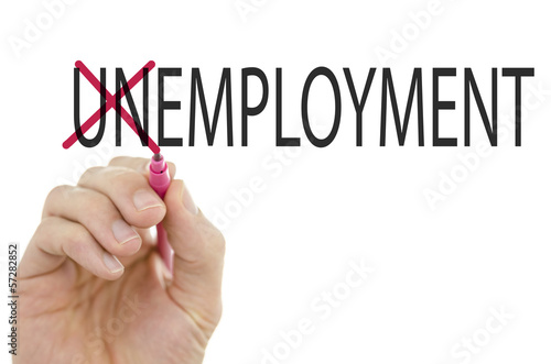Changing word Unemployment into Employment