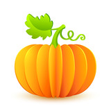 Bright Halloween paper vector pumpkin