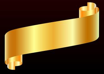 Başları kıvrılmış kağıt ( altın )