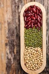 gram green soy bean and azuki bean