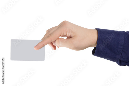 credit card in fingers