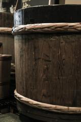 酒造の木桶