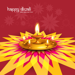 Beautiful diwali greeting card rangoli colorful fantastic backgr