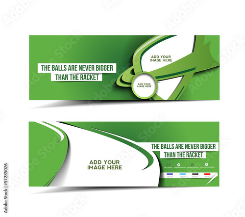 Golf Tournament Web Banner, Header Layout Template.