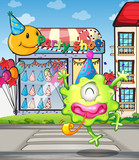 A happy monster from the party shop