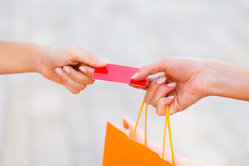 Paying With Card After Shopping