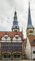 historical houses in Lemgo, Germany