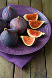 fresh and juicy figs on a platter