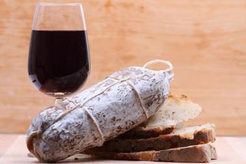 pane vino e salame
