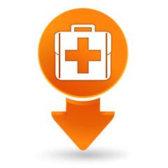 trousse premiers secours sur signet orange