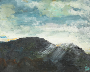 mountain abstract landscape