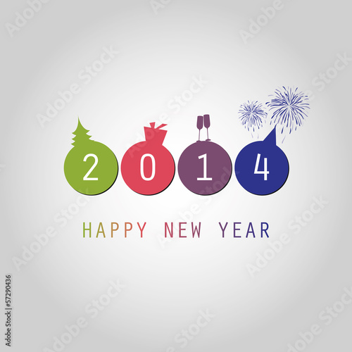 New Year Card Background - 2014