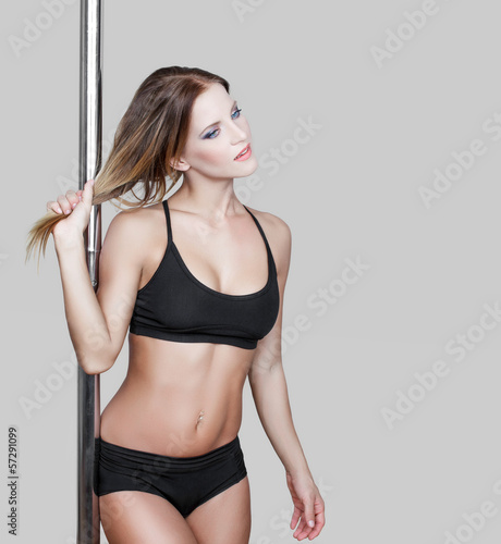 Sensual pole dancer