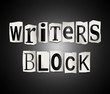 Постер, плакат: Writers block