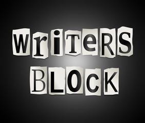 Writers block.