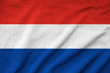 Ruffled Netherlands Flag
