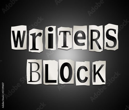 Постер, плакат: Writers block , холст на подрамнике