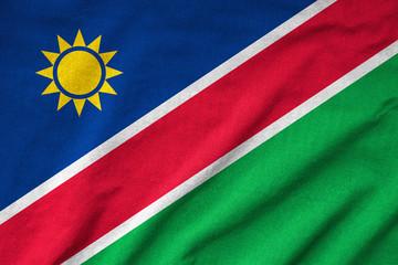 Ruffled Namibia Flag