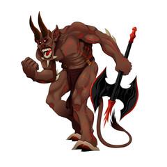 Angry demon.