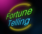 Fortune telling concept. poster