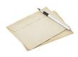 old retro envelope on white