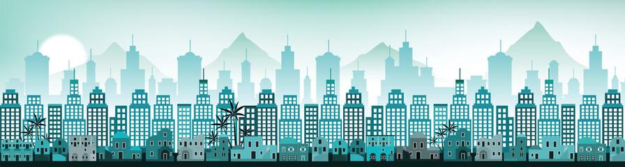 Cityscape Arabia (blue colors)