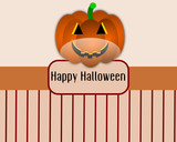 Vector background with halloween pumkin